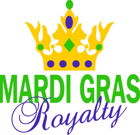 Get ready for the Mardi Gras parties with this fantastic crown.  Grab these designs from Great Notions. Stock Vector - 45171788