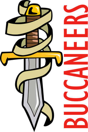 cutlass: Show your team spirit with this Buccaneers logo.  Everyone will love it! Illustration