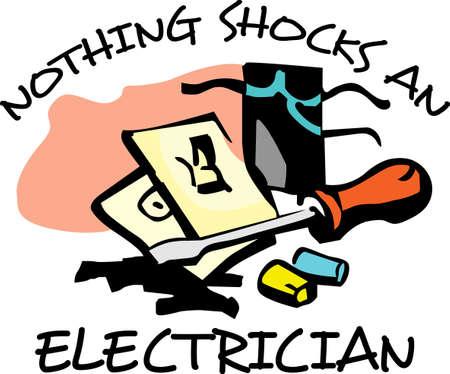 La conception parfaite pour montrer votre service électrique et attirer de nouveaux clients. Obtenir ces conceptions de Great Mercerie. Banque d'images - 45171796