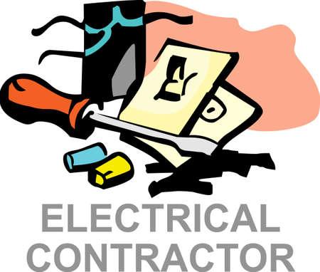 La conception parfaite pour montrer votre service électrique et attirer de nouveaux clients. Obtenir ces conceptions de Great Mercerie. Banque d'images - 45171799