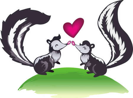 Even skunks need someone to love.  So cute for Valentines day.