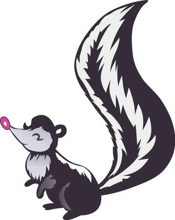 omnivore animal: This cute little skunk is perfect for the baby or little one.  Let people know they are the little stinker.