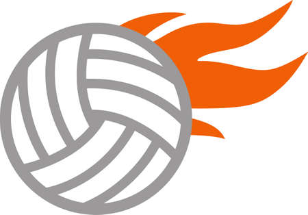 notions: Volleyball players will love this design.  A wonderful image from Great Notions.