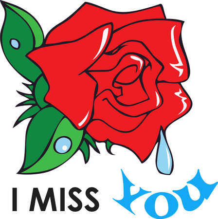 This beautiful image of a red rose for love and a tear is a perfect image to send to a loved one that is away from home. 向量圖像