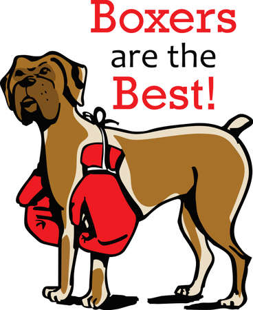 bred: My best friend is hard at work for me.  Show everyone how much your dog means to you.  They will love it! Vectores