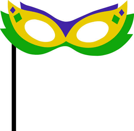 fat tuesday: Get ready for the Mardi Gras parties with this fantastic mask.  Grab these designs from Great Notions.