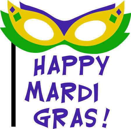 Get ready for the Mardi Gras parties with this fantastic mask.  Grab these designs from Great Notions.