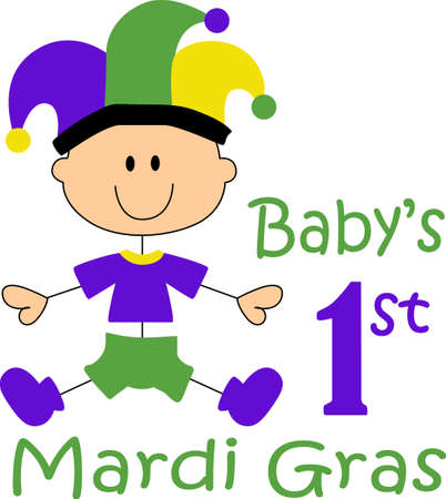 Get ready for the Mardi Gras parties with this cute baby.  Grab these designs from Great Notions.