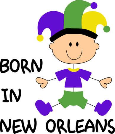 Prepárese para las partes del carnaval con este lindo bebé. Coge estos diseños de grandes conceptos. Foto de archivo - 45171970