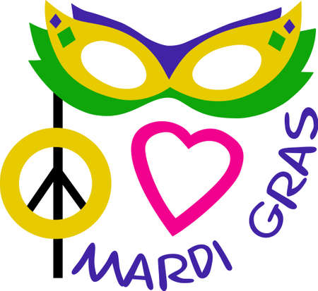 new orleans: Get ready for the Mardi Gras parties with this fantastic mask.  Grab these designs from Great Notions.