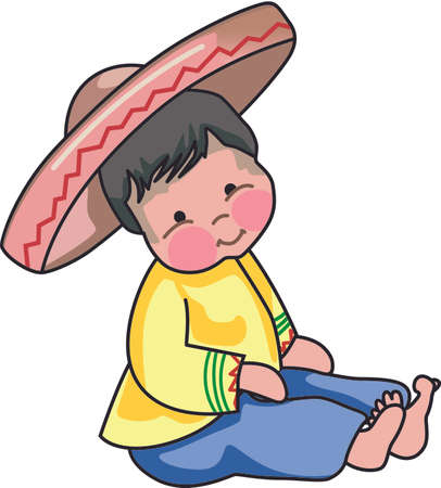 特別なフィエスタ デザインのメキシコ人の少年のこの設計を使用します。
