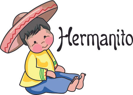 mexican boys: Use this Mexican boy design for a special fiesta design. Illustration
