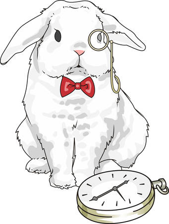 promote: This cute rabbit is the perfect design to promote your magic show. Illustration