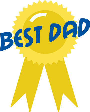 know how: Let dad know how much you care with an award ribbon. Illustration