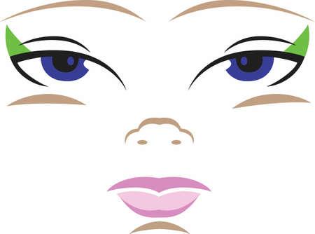 이 귀여운 얼굴 디자인은 사랑하는 사람에 의해 소중히 할 인형에 추가 할 최적입니다. 위대한 관념에서 귀여운 디자인. 일러스트