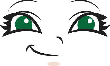 이 귀여운 얼굴 디자인은 사랑하는 사람이 소중히 여기는 인형에 더할 나위없이 좋습니다. 위대한 개념의 귀여운 디자인.