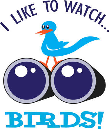watcher: A bird watcher loves to watch birds everywhere they go.   This design is a perfect gift for the birder you know.