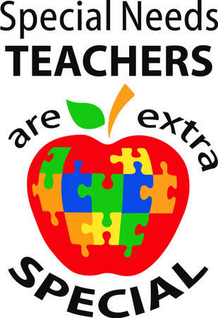 special needs: An apple for teacher who has special needs students.