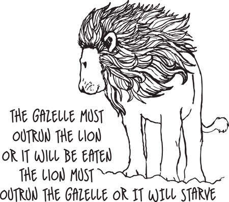 The majestic lion is the king of the forest.  This is a beautiful outline to add to your design.