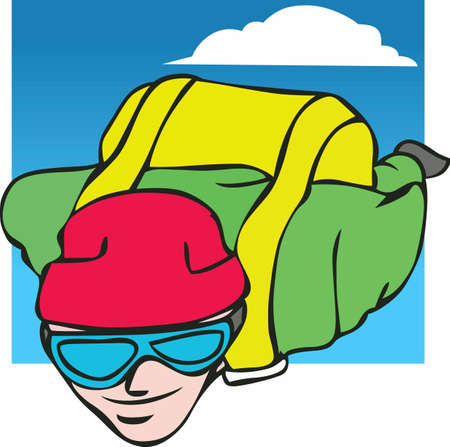 Feel the rush and the thrill of skydiving with this design from Great Notions! Ilustração
