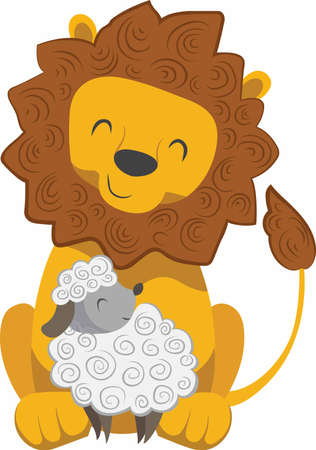 lion and lamb: Keep peace in your heart and find strength in kindness.  The lion and the lamb lay down together.