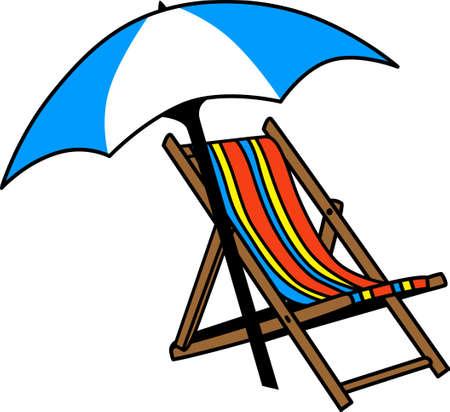 このかわいいビーチの椅子と傘、ビーチに最適です。 偉大な概念からこのデザインをつかみます。 写真素材 - 45194535