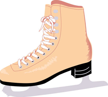 iceskates: My passion is ice skating.  Live life on the edge with this design from Great Notions. Illustration