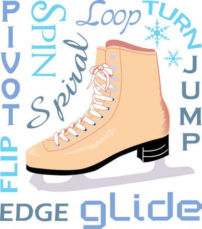나의 열정은 아이스 스케이팅입니다. 위대한 개념에서이 디자인으로 가장자리에 생애를 보내십시오.