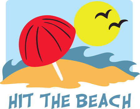 vacation home: This cute design of the beach is perfect for a vacation home.  Grab this design from Great Notions. Illustration