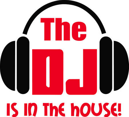 disc jockey: The DJ is in the house and ready to get everyone dancing.  Enjoy this design from Great Notions. Illustration