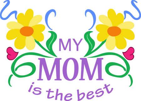 母の日はどのくらい彼女は感謝のお母さんを伝えるに最適な時間です。 彼女は偉大な概念からのこの特別な設計を送信します。