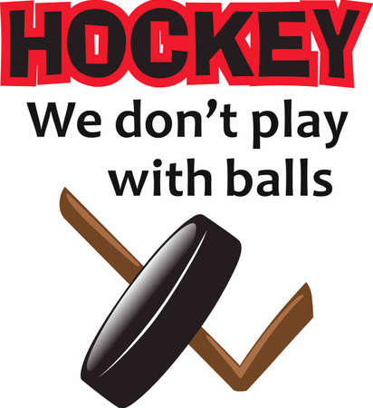 puck: Hockey lovers will like a good puck and stick. Illustration
