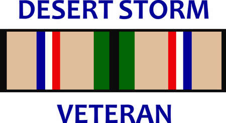 desert storm: Desert Storm veterans will show their pride and patriotism with this ribbon.