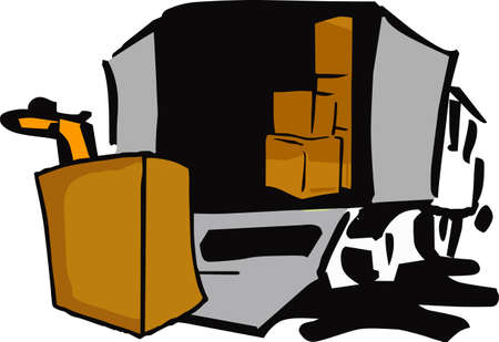 hauler: Its moving day.  The perfect logo to promote your moving business.