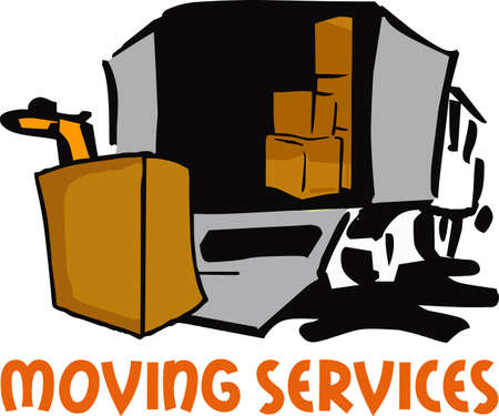 mover: Its moving day.  The perfect logo to promote your moving business.