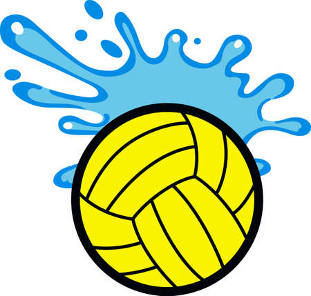 Jugadores de polo del agua va a gustar esta bola salpicaduras. Foto de archivo - 45194643