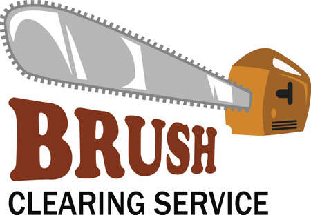chain saw: Looking for a great design to promote your brush cutting service  Look no further than this design from Great Notions. Illustration