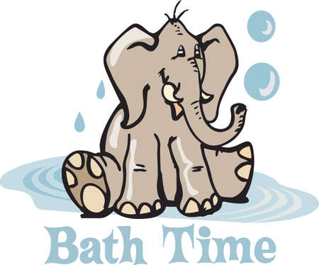 bath time: Designate your childs bath time with this cute elephant.  An adorable design from Great Notions.