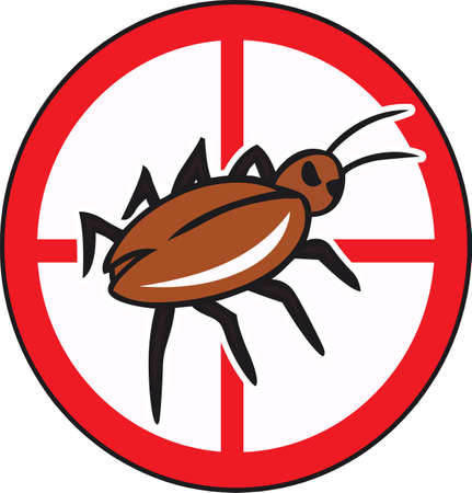 exterminator: The perfect logo to promote your bug business. A neat design from Great Notions. Illustration