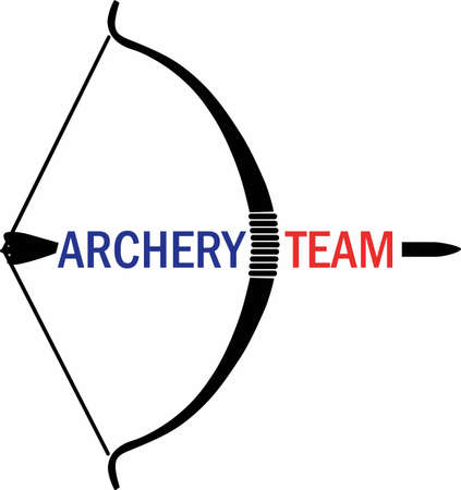 recurve: Archery lovers will enjoy a bow and arrow. Illustration