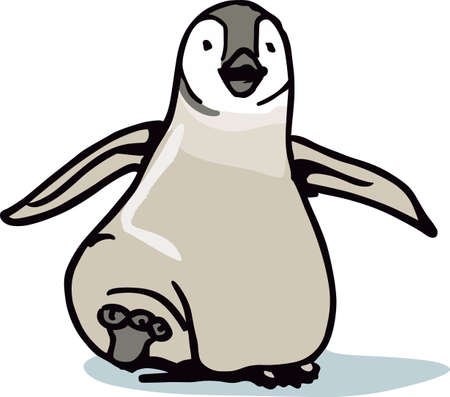 antarctica: This adorable little penguin is perfect for your decorating.   The students will love it! Illustration