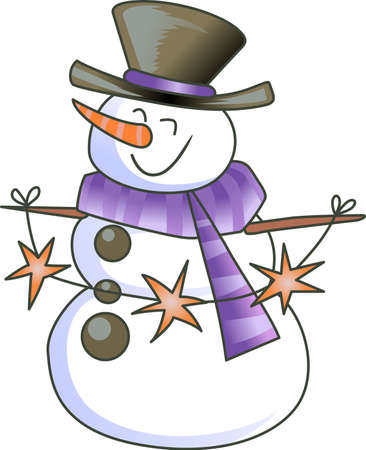 jack frost: A figure of a person made out of packed snow, makes a snowman, pick those designs by Great Notions! Illustration