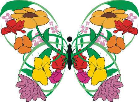 A beautiful floral butterfly will look lovely in any garden.