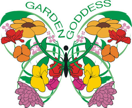 mariposa: A beautiful floral butterfly will look lovely in any garden.