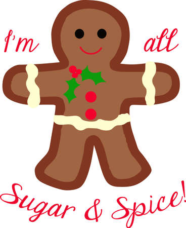 gingerbread person: This cute gingerbread person is perfect for your Christmas decorating.  A cute design from Great Notions.