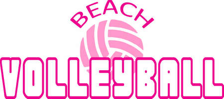 team spirit: This design is perfect for the volleyball team.  Show your team spirit.