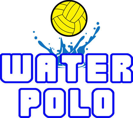 water: This design is perfect for the water polo team.  Show your team spirit. Illustration