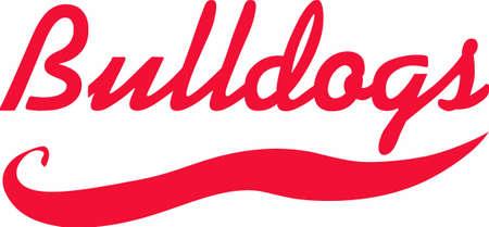 team spirit: This design is perfect for the Bulldogs team.  Show your team spirit. Illustration