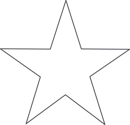 This outline is perfect to add to your custom design for this beautiful star.