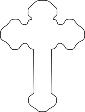This outline is perfect to add to your custom design for a beautiful cross. Ilustração